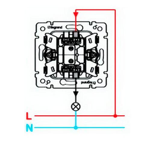 Legrand valena выключатели двухклавишные схема подключения