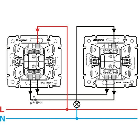 Файл png, 75.33 Kb.  Схема подключения переключателя Легранд Валена 774106.