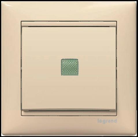 Выключатель 1-кл крест с