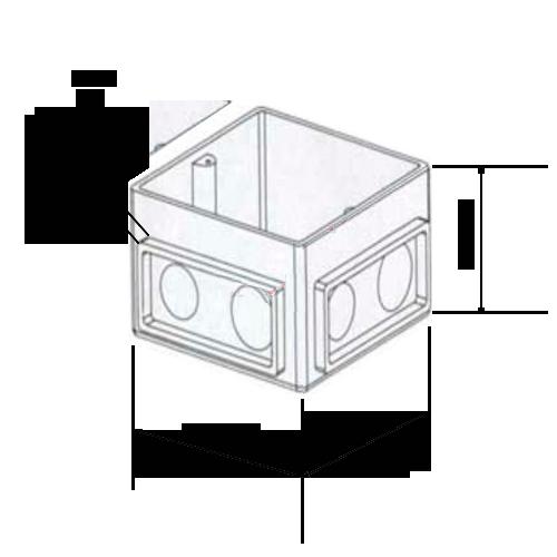 Размеры коробки на 3 модуля 650390 legrand