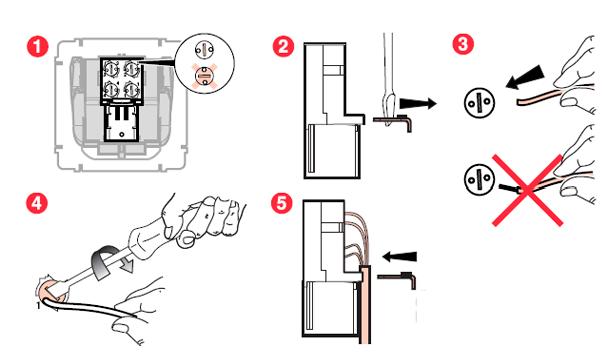 Схема подключения телфонной розетки Легранд Карива.