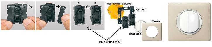 Схема монтажа выключателей Celiane